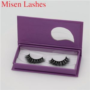Mink false lashes customized box