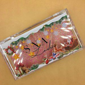 Christmas lash packaging case wholesale custom