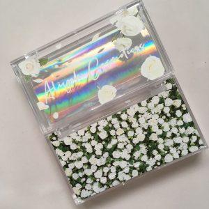 white custom lash packaging case