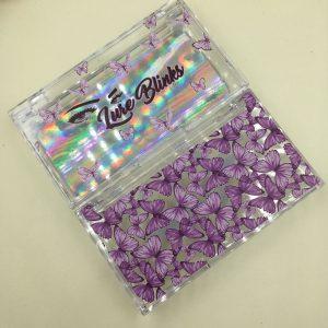 butterfly eyelash packaging case custom