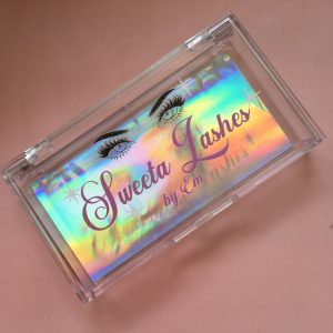 custom eyelash packaging box with private label