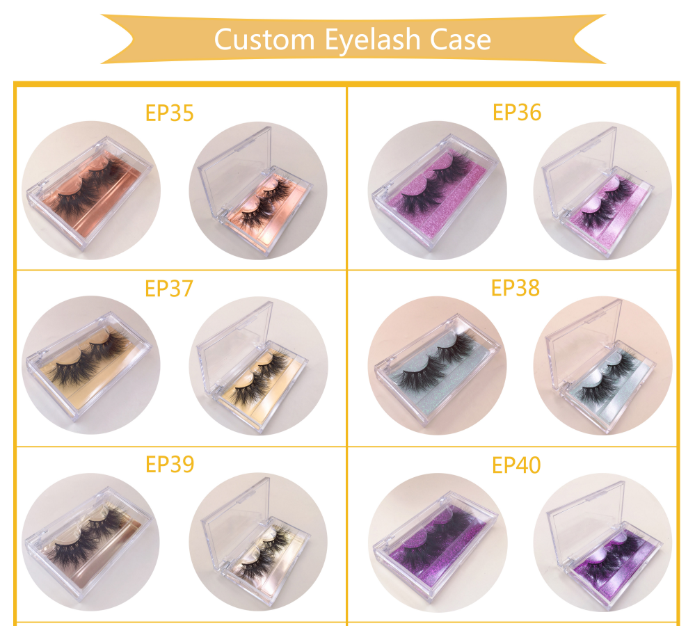 Eyelash Packaging Clear Case Lashes empty acrylic package boxes