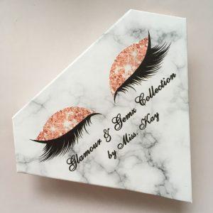 custom eyelash packaging diamond box