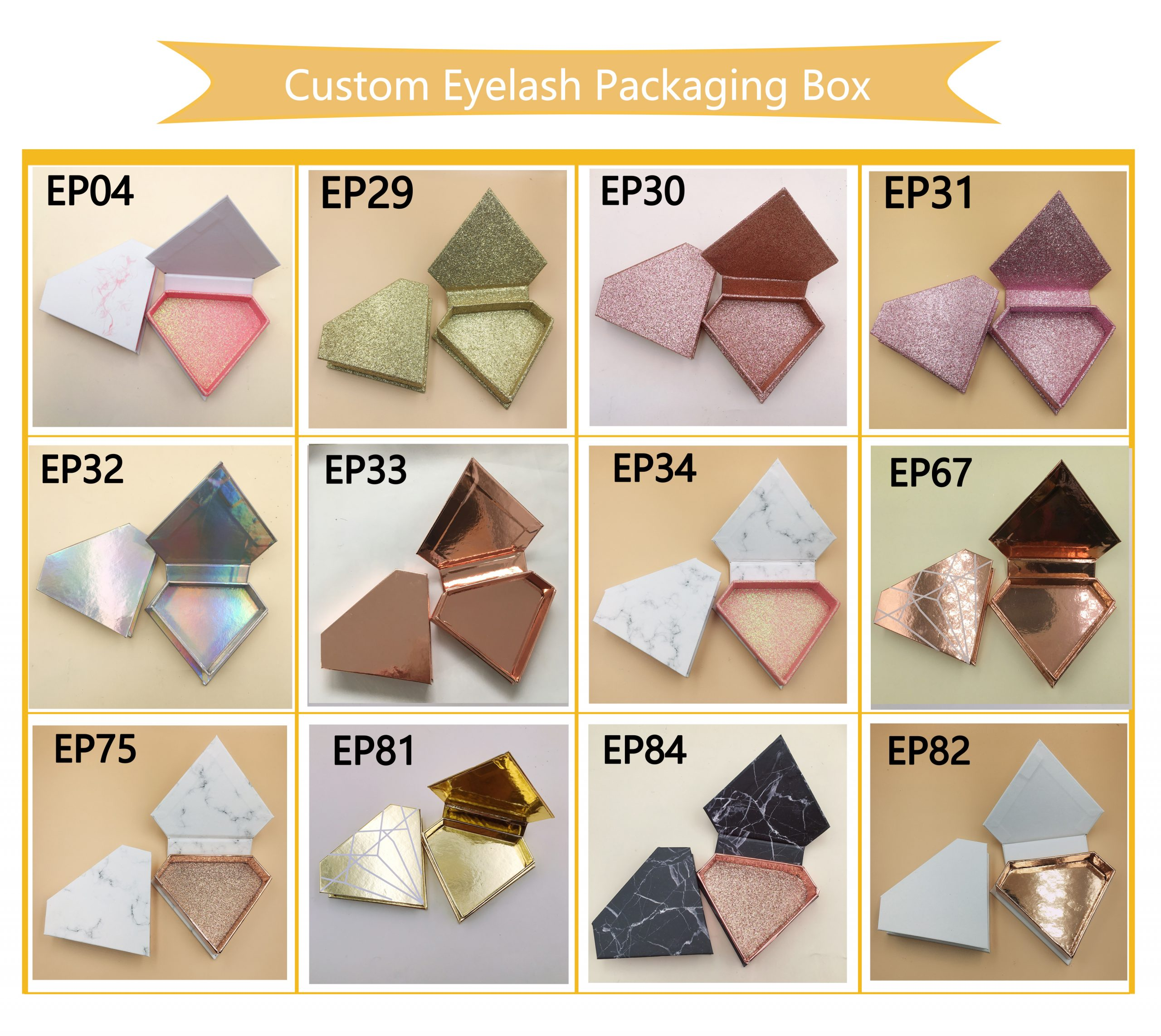 lash diamond packaging box wholesale