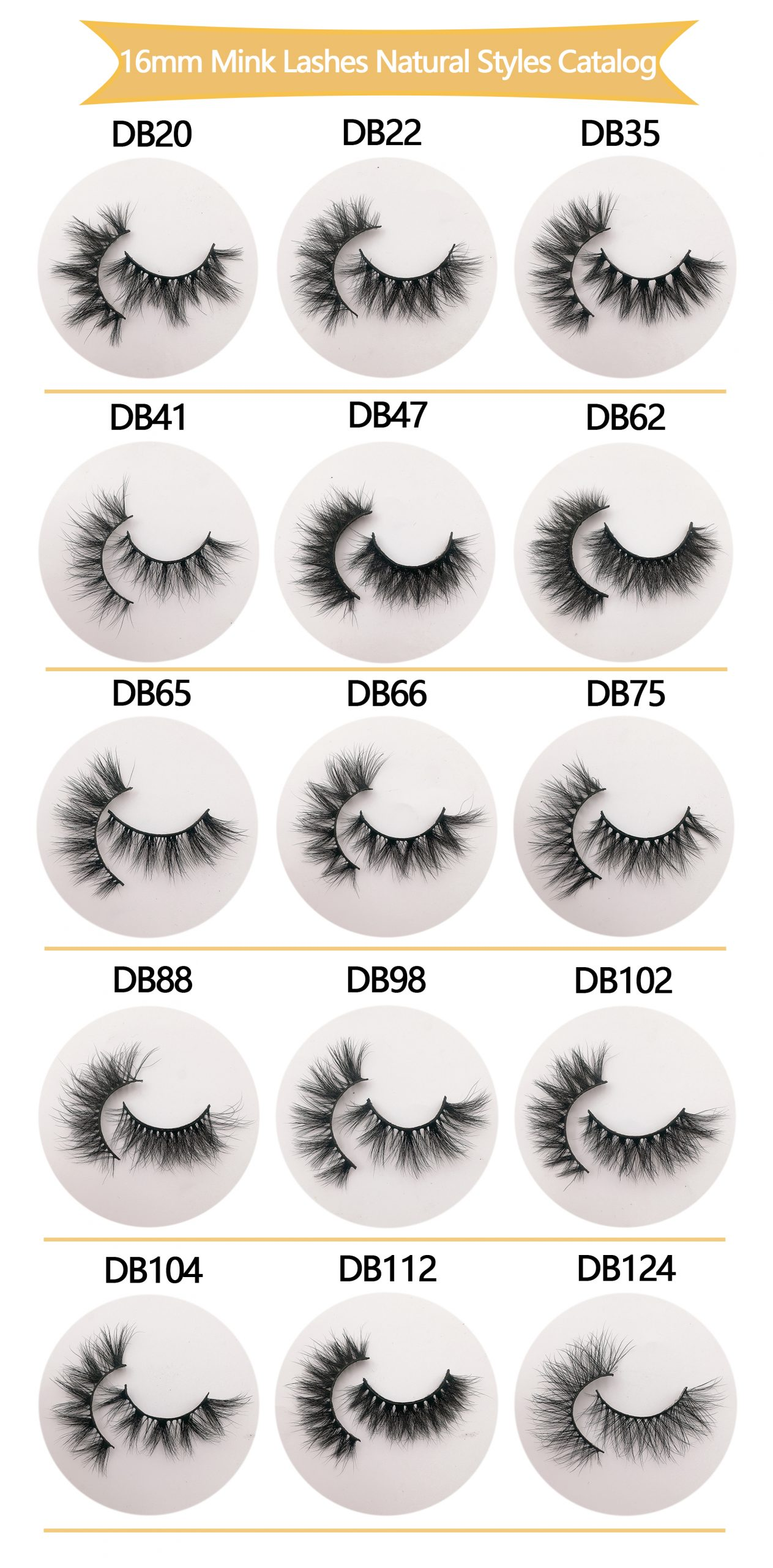 16mm mink lashes wholesale 3d eyelash vendors