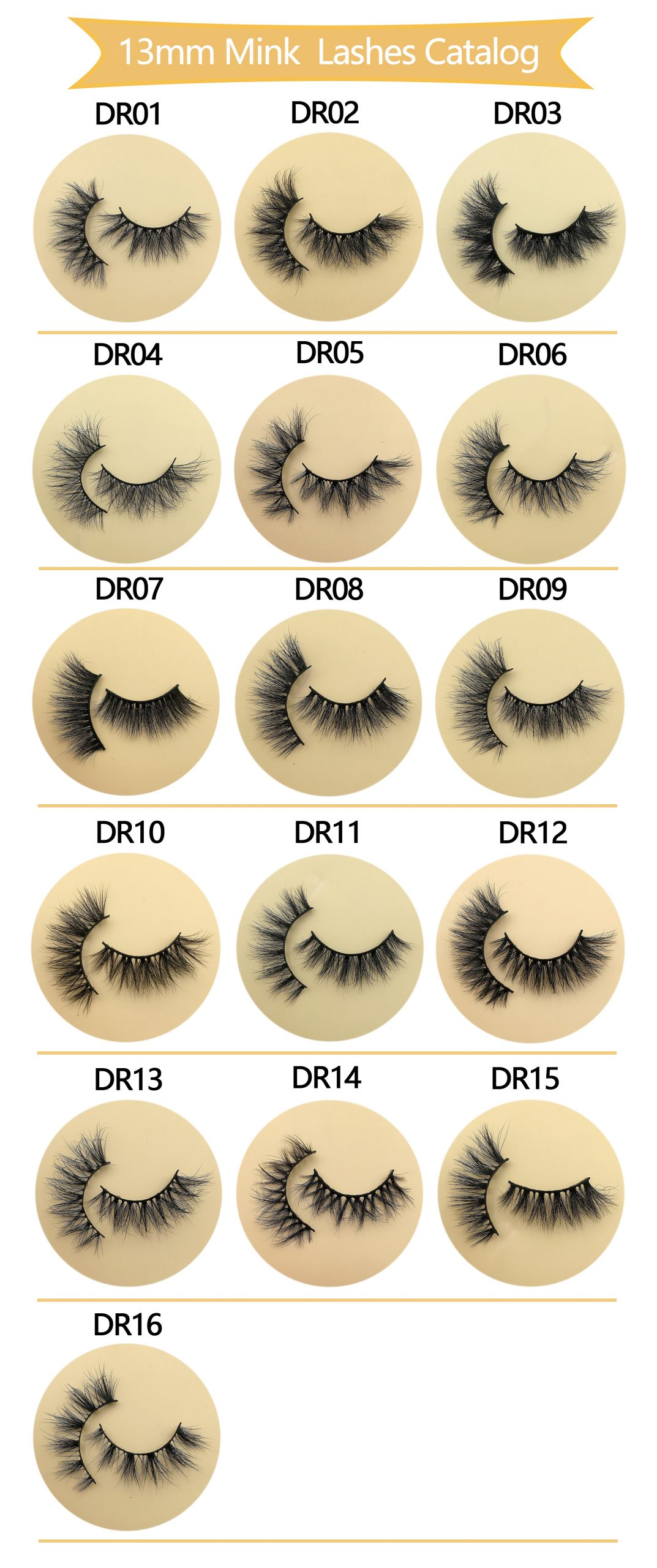 3D Mink Lash Wholesale 13mm eyelashes