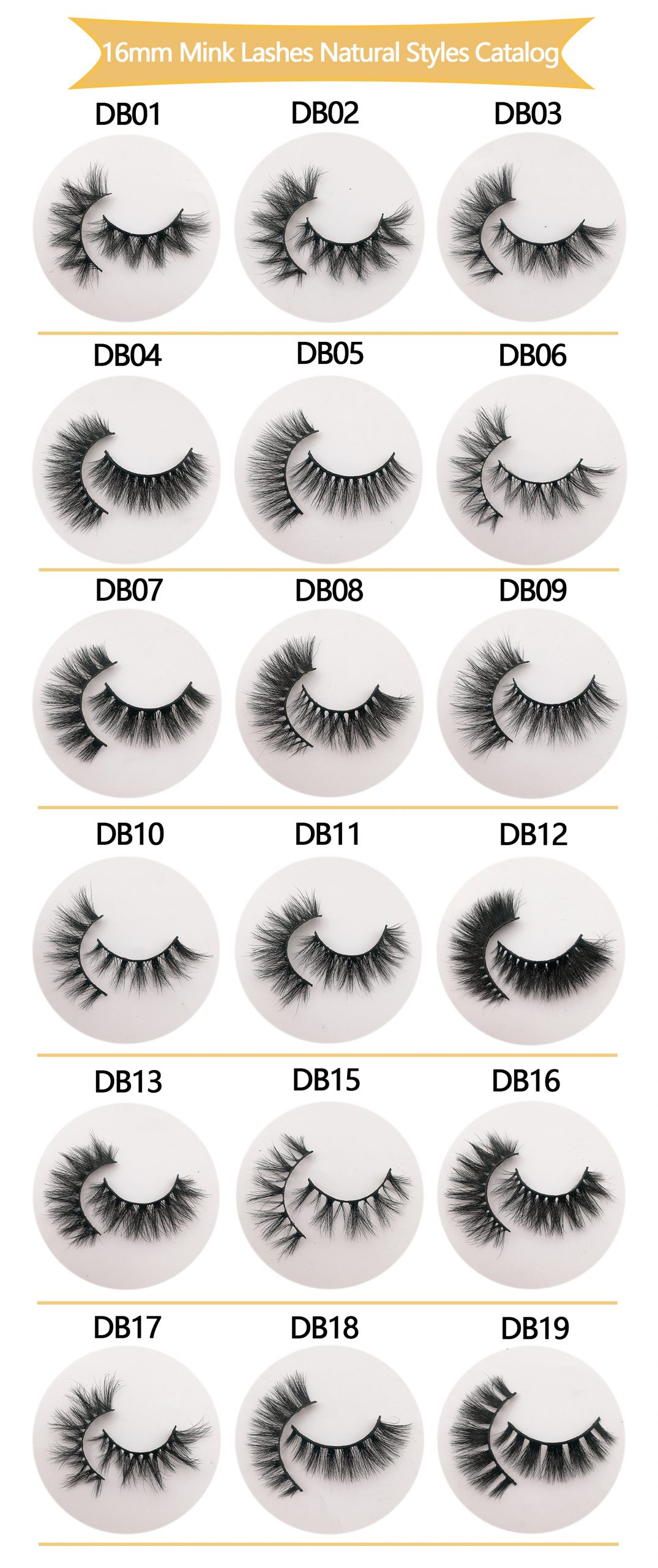 3D Mink Lashes wholesale 16mm eyelashes