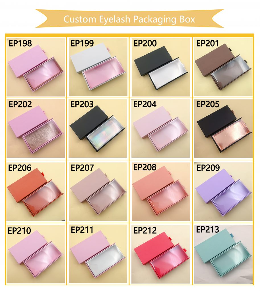Custom eyelash packaging boxes vendors wholesale