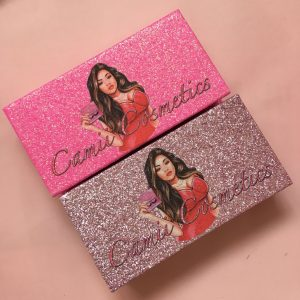 Custom glitter lash packaging boxes with logo