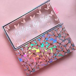 Butterfly lash box wholesale custom my own eyelash packaging vendors