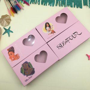 Valentine lash box custom heart eyelash packaging wholesale