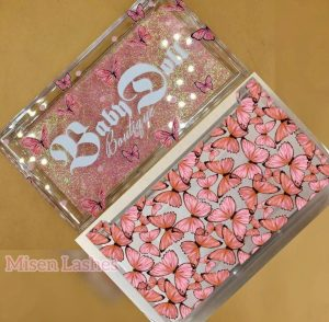 Butterfly eyelash packaging box custom lash cases vendors