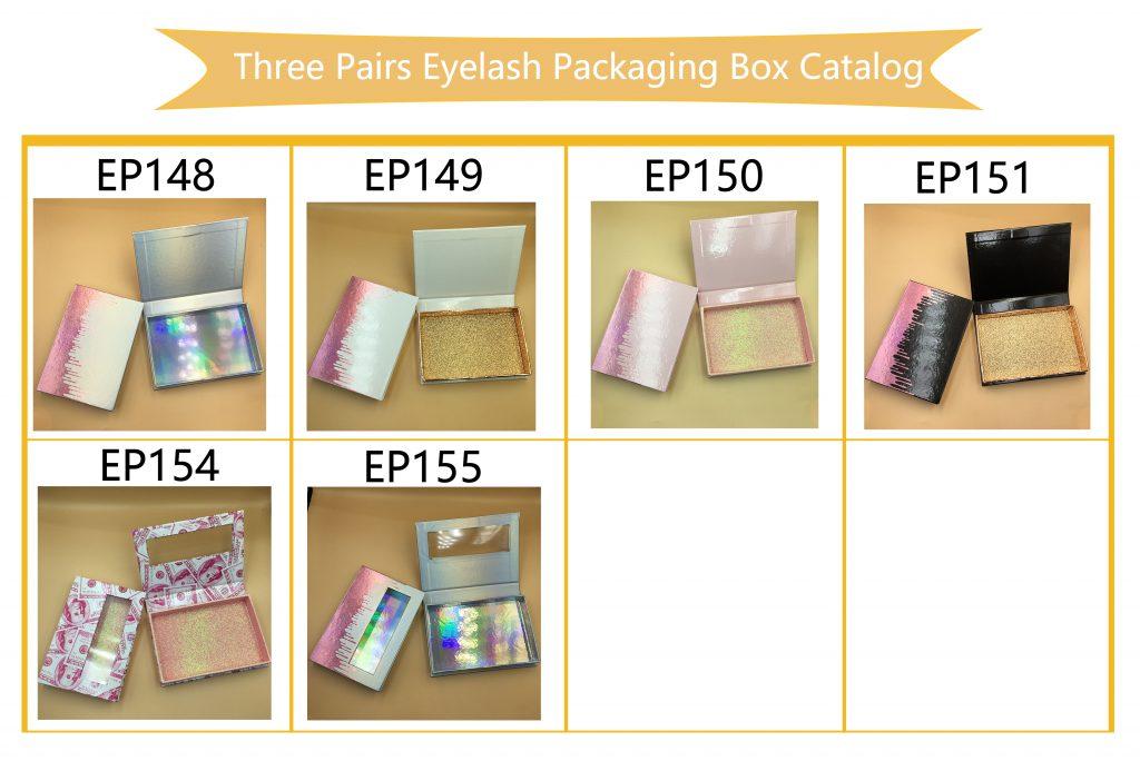 Three Set Eyelash Packaging Ideas empty lash book customized